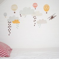 Up Up And Away Reusable Fabric Wall Decals not by lovemaestore