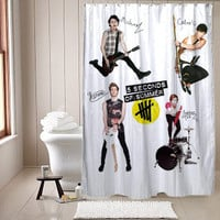 5 Second Of Summer shower curtain