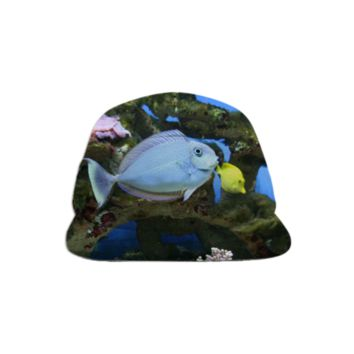 Blue Fish Baseball Hat created by ErikaKaisersot | Print All Over Me