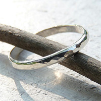 slim silver band - simple ring - silver ring