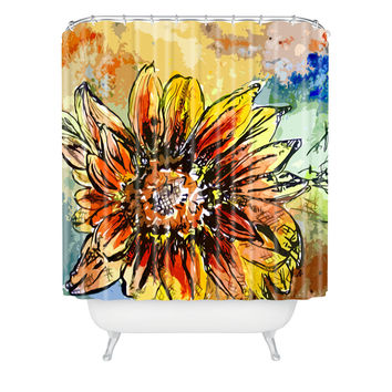 Ginette Fine Art Sunflower Moroccan Eyes Shower Curtain