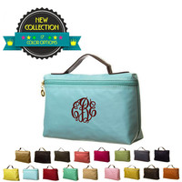 Personalized Longchamp Inspired Clutch Purse / Cosmetic Bag Buy 6 or More and Save