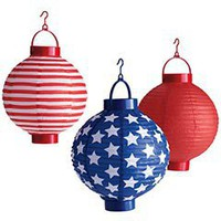 Pier 1 Imports - Product Details - July 4th Paper Lanterns - Set of 3