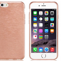 Brushed TPU Rubber Case for iPhone 6