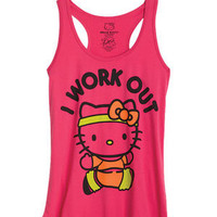Hello Kitty I Work Out Tank