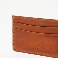 A.P.C. Cardholder in Nut Brown