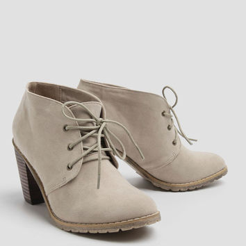 Penny Ankle Booties In Taupe By Restricted