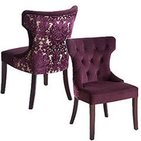 Pier 1 Imports - Pier 1 Imports > Catalog > Furniture > Pier1ToGo Product Details - Purple Damask Dining Chair