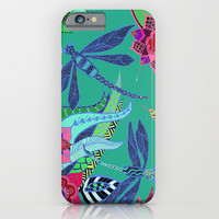 Dragonfly Garden iPhone & iPod Case by ALLY COXON | Society6