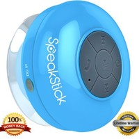 SpeakStick Waterproof Bluetooth Shower Speaker - Talk Wireless & Listen to Music with Lifetime Guarantee - Compatible with All Bluetooth Devices: Iphone, Galaxy, Ipad , Tablets & All Other Android Devices - The Highest Quality on the Market!