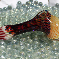 Honeycomb Hammer inside out color changing glass pipe AMERICAN made