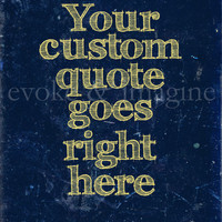 Evoke & Imagine - Blue & Yellow Grunge - Custom Art Print & Canvas