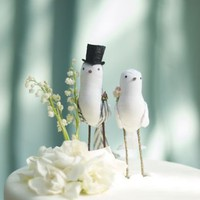 style me pretty : wedding inspiration : bird toppers