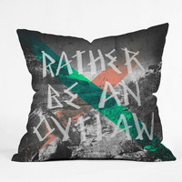 DENY Designs Home Accessories | Wesley Bird Rather Be An Outlaw Throw Pillow