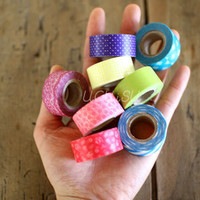 Washi Tape mini 8 Roll Set Vivid Colours