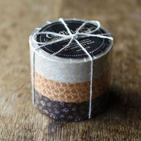 Pretty Masking Tape Liberty Floral Set (Brown) Japanese Washi Tape