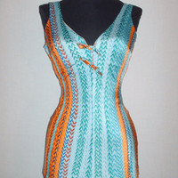 Vintage 1950s Colorful Swimsuit