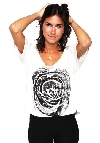 Graphic Rose Top