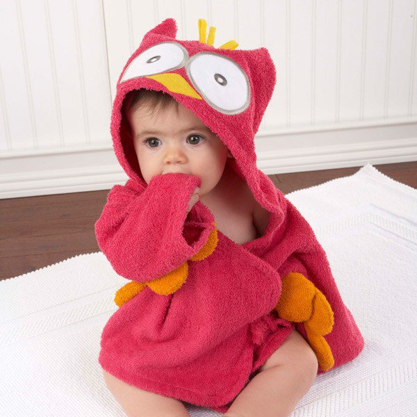 Adorable My Little Night Owl Hooded Terry Spa Robe  - Whimsical &amp; Unique Gift Ideas for the Coolest Gift Givers