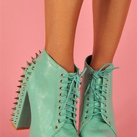 Watch Out Studded Litas - Blue at Necessary Clothing