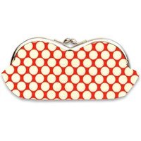 Sunglasses Case in Cherry Red and Cream Polka Dot - Frame Sunglass Case