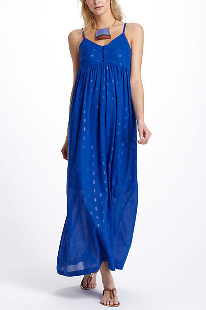 Winking Circlets Maxi Dress
