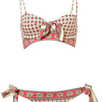 Pink Scarf Underwired Bikini - Swimwear  - Apparel