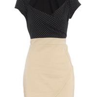 Black/cream 2in1 dress - View All - Dresses - Dorothy Perkins