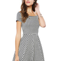 Papaya Clothing Online :: HOUNDS-TOOTH CHECK DRESS