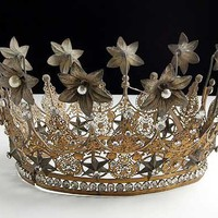 Huge Antique French RARE Crown Late 1800s    -    As Seen on new TV Show - It's Worth What on NBC