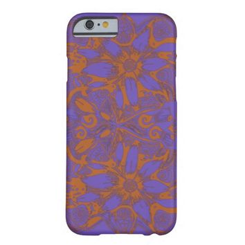 Lavender and Orange Cosmic Flower Explosion