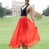 Chiffon Maxi Skirt