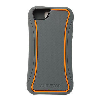 Griffin iPhone 5/5S Survivor Slim Case - Grey / Orange