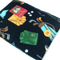 Kindle Case Padded Nook Kobo Galaxy Tab - Kindle 1 2 3 4 Kindle Fire eReader tablet sleeve cozy golf black sports - Étui - Ready to ship