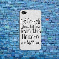 Funny Animal Unicorn Quote Case Cute Rubber Phone Cover iPhone 4 4s 5 5s 5c 6