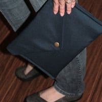 Navy blue envelope clutch - ENDI