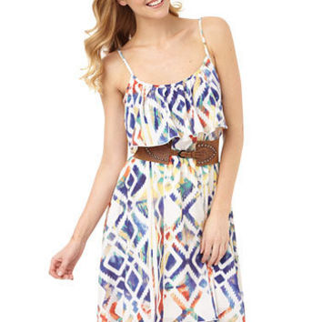 Noli Tribal Hi-Lo Dress