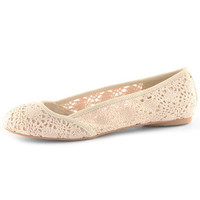 Cream crochet pumps - View All Shoes - Shoes - Dorothy Perkins