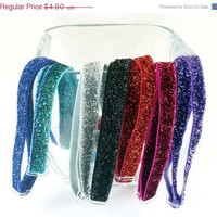 ON SALE Adjustable glitter headband