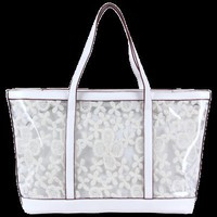 Lace Clear Handbags White Swan-Ecosusi