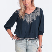 Grand Mesa Embroidered Blouse