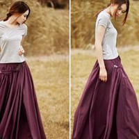 Cotton Beaded Bell Bust Big Skirt on Luulla