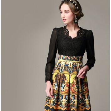 Clothing : Lace and Oil Painting Dress