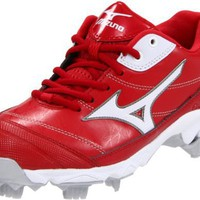 Mizuno Women`s 9-Spike Finch 5 Softball Cleat,Red/White,6.5 M US