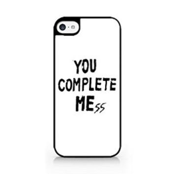 You Complete Me - You Complete Mess - WHITE - iPhone 5C - Hard Plastic Phone Case - Black Phone Case