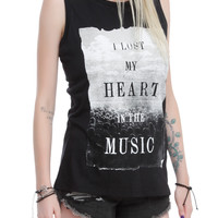 Lost My Heart In Music Girls Muscle Top