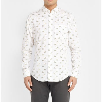 Club Monaco  Printed Cotton Shirt  MR PORTER