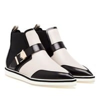 NICHOLAS KIRKWOOD | Calf Leather Ankle Boot with Buckle | Browns fashion & designer clothes & clothing