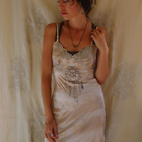 Mystic Mini Slip Dress... Size S/M... boho hippie dream catcher feather moon free people tribal