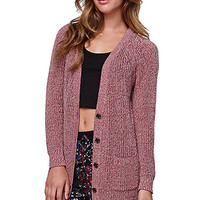 LA Hearts Button Front Cardigan - Womens Sweater -